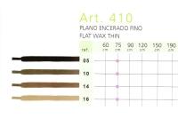 Art.410 Плоский тонкий воскованый шнурок 75 см