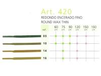 Art.420 Круглый тонкий воскованый шнурок 90 см