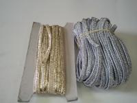 Резинка в оплетке 6мм (золото, серебро)