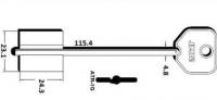 Заготовка ключа 5AT7 | ATR-1G | 2AT3