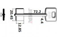 Заготовка ключа CI-2G | CSC | 1CI1R