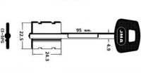 Заготовка ключа CI-5.PG | 5CS10P | 2CI8P