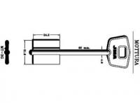 Заготовка ключа MT-3G | 5MT5 | 2MO7/2MO10R