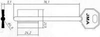 Заготовка ключа MT-8G | 5MT10 | 2MO10