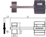 Заготовка ключа БОРДЕР-1 | BRD1DP
