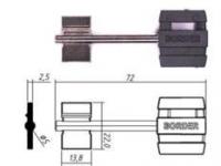 Заготовка ключа БОРДЕР-2 | BRD2DP