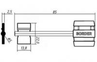 Заготовка ключа БОРДЕР-3 | BRD3DP