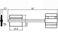 Заготовка ключа БОРДЕР-5 | BRD5DP