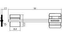 Заготовка ключа БОРДЕР-6 | BRD6DP