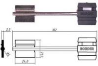Заготовка ключа БОРДЕР-7 | BRD7DP