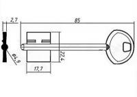 Заготовка ключа ГАРД-2 | GRD2D