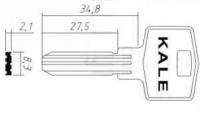 Заготовка ключа Н-125 | KAE-4 | KLE4 | KAL4 | КС-9