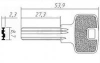 Заготовка ключа Апекс-6 3п | H-126 | AP3D | APS3 | APK3R
