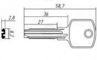 Заготовка ключа CI-21 | E-316 | CS62 | C24