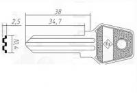 Заготовка ключа Калуга | KAL-2D | KLG2R | KLG2