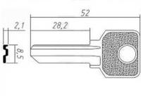 Заготовка ключа PEN-1D | H-059 | BZ2/BZ1 | PNZ1D