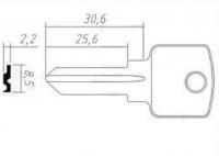 Заготовка ключа PEN-1 | H-060 | BZ1R/BZ2R | PNZ1S