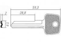 Заготовка ключа AV-1 | H-037 | AVG1S | AV1R | AVD1L