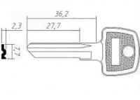 Заготовка ключа AV-1D | H-036 | AV1 | AVD1 | AVG1D
