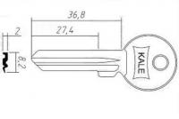 Заготовка ключа KAE-9 | H-028 | KLE6RX | KAL6LD | KAL9R