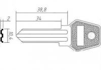 Заготовка ключа KAL-1 | H-086 | KLG1R | KLG2L | KLG1