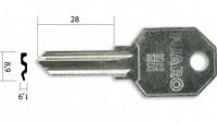 Заготовка ключа Fuaro-4 | E-370 | U-5D | UL050 | UN5D