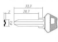 Заготовка ключа MR-2 | H-044 | VK1 | MSN1 | MOS2