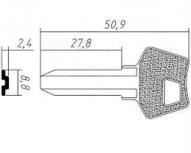 Заготовка ключа MR-1 | H-045 | MST1 | MRG1 | MOS1