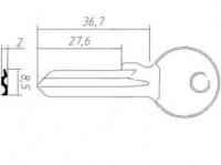 Заготовка ключа KAE-8D | H-027 | KLE7X | KAL7 | KAL10