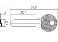 Заготовка ключа TRI-18D | F-044 | TR11R | TL11 | TRC11