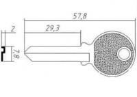 Заготовка ключа TRI12I | F-046| TR8 | TL8R | TRC66L