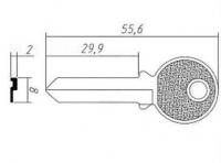 Заготовка ключа TRI12D | F-047 | TR8R | TL8 | TRC66