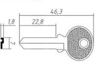 Заготовка ключа TRI5I | F-055 | TR3 | TL6R | TRC30L