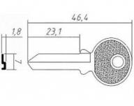 Заготовка ключа TRI5D | F-056 | TR3R | TL6 | TRC30