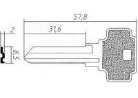 Заготовка ключа DX6 | F-429 | D7S | DX3R | DXT6L