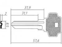 Заготовка ключа DX6D | F-430 | D7D | DX3 | DXT6