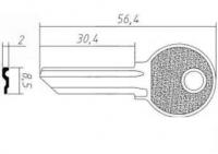 Заготовка ключа 45-1D | RUS1 | KSK1 | KSP1D