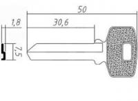 Заготовка ключа BUL7D | E-279 | BUT4R | BUL-7